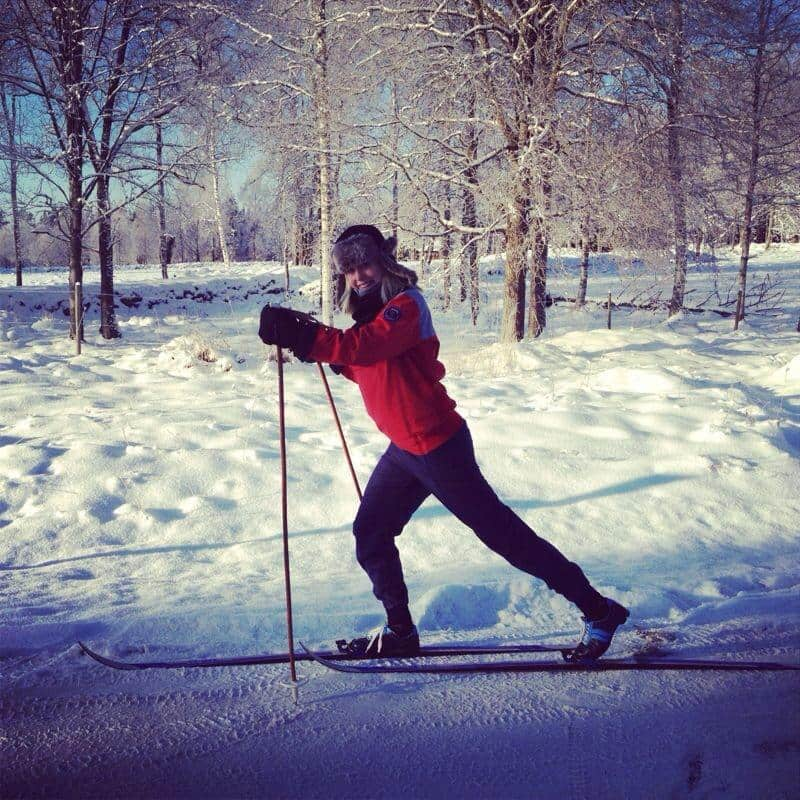 Guide Cecilia, cross country skiing