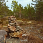piling up stones nature